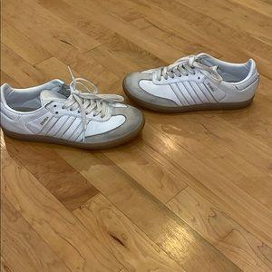 All White Adidas Sambas